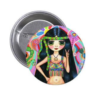 De Knoop van het Meisje van de Hippie van het Teke Ronde Button 5,7 Cm