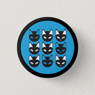 De knoop van het Patroon van katten Ronde Button 3,2 Cm