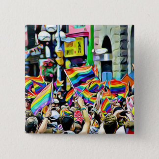 De Knoop van het Protest of van de Verzameling van Vierkante Button 5,1 Cm