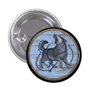 De Knoop van het Schild van Viking - Fenrir Ronde Button 3,2 Cm
