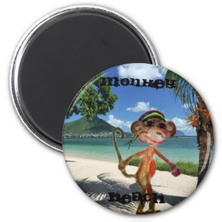 De Knoop van het Strand van de aap Ronde Magneet 5,7 Cm