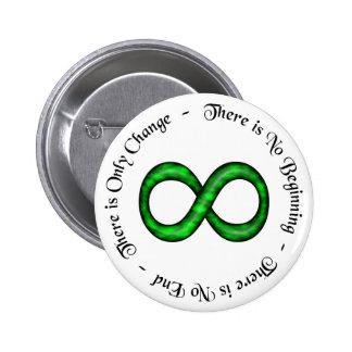 De Knoop van het Symbool van de oneindigheid Ronde Button 5,7 Cm