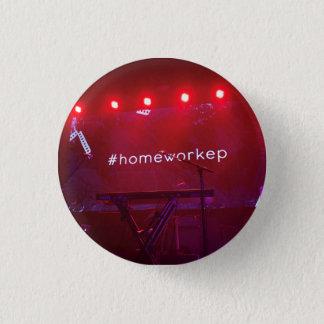 De knoop van het thuiswerk ronde button 3,2 cm