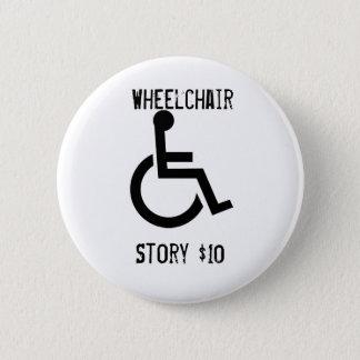 De Knoop van het Verhaal van de rolstoel Ronde Button 5,7 Cm