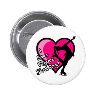 De Knoop van kunstschaatsen - Roze Hart Ronde Button 5,7 Cm