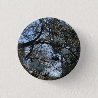 De Knoop van Pinback van de Magnolia van Yulan #2 Ronde Button 3,2 Cm