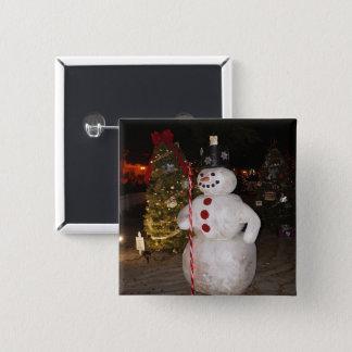 De Knoop van Pinback van de sneeuwman & van de Vierkante Button 5,1 Cm