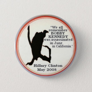 De Knoop van sillhouette van Hillary Vulture Ronde Button 5,7 Cm