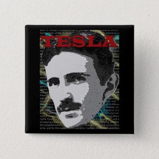 De knoop van Tesla Vierkante Button 5,1 Cm