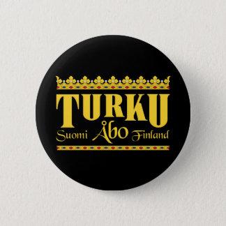 De knoop van Turku Finland Ronde Button 5,7 Cm