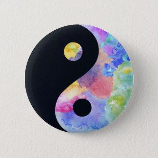 De Knoop van Yin Yang van de Kleur van het water Ronde Button 5,7 Cm
