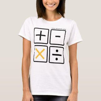 De Knopen van de Calculator van XtraMath (vele T Shirt