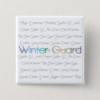 De Knopen van de Wacht van de winter Vierkante Button 5,1 Cm