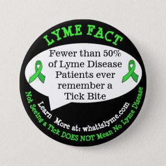 De Knopen van het Feit van de Ziekte van Lyme voor Ronde Button 7,6 Cm