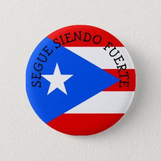 De Knopen van SEGUE SIENDO FUERTE Puerto Rico Ronde Button 5,7 Cm