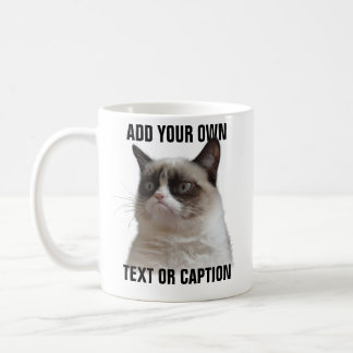 De knorrige Glans van de Kat - voeg uw eigen tekst Koffiemok
