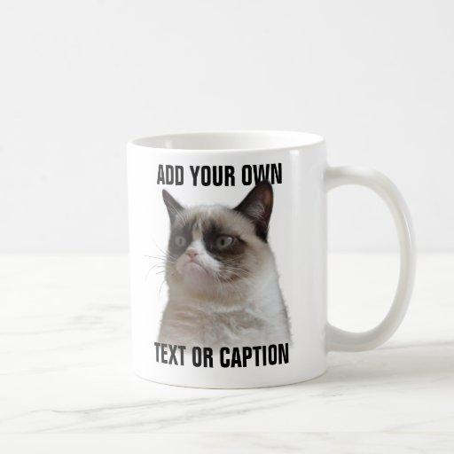 De knorrige Glans van de Kat - voeg uw eigen tekst Mok
