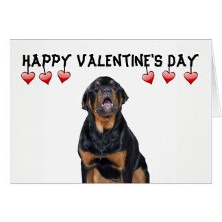 De Knorrige Kaart Rottweiler van de Valentijnsdag Kaart