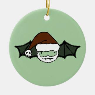 De Knuppel van de Kerstman van de vampier Rond Keramisch Ornament
