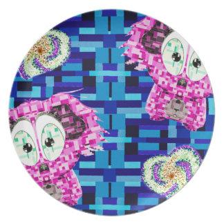 De koala en de harten van het mozaïek melamine+bord