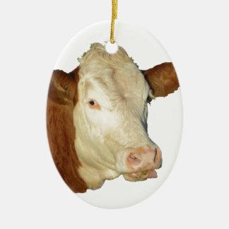 De koe keramisch ovaal ornament