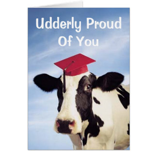 De Koe van afstuderen, Udderly Trots van u Kaart