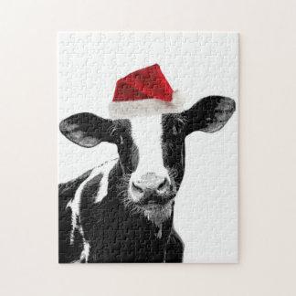 De Koe van de kerstman - Koe van Kerstmis van Hols Puzzel