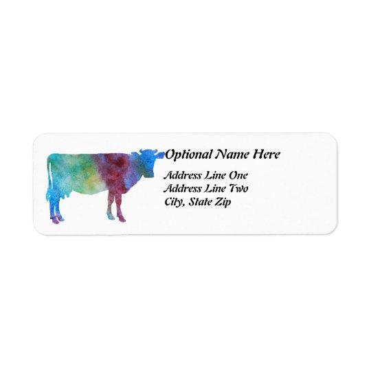 De Koe van de regenboog met Klantgerichte Teksten Etiket