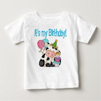 De Koe van de verjaardag Baby T Shirts