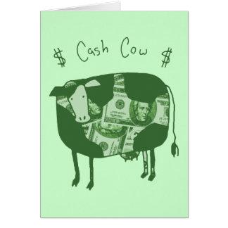 De Koe van het contante geld Wenskaart