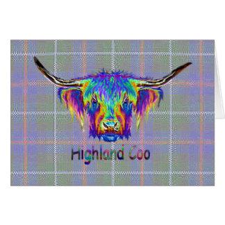 De koe van het Hoogland van de regenboog op een Kaart