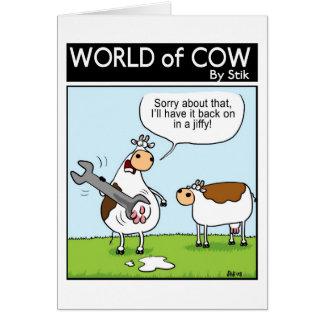 De koe van het loodgieterswerk briefkaarten 0