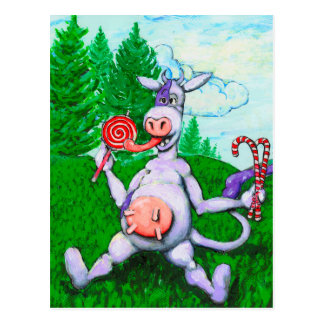 De Koe van het snoep Briefkaart