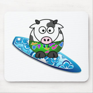 De Koe van Surfer Muismat
