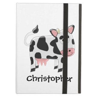 De koe voegt enkel Naam toe iPad Air Hoesje