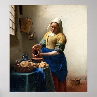 De koeienmelkster, Januari Vermeer Poster