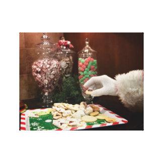 De Koekjes van de kerstman Canvas Afdruk