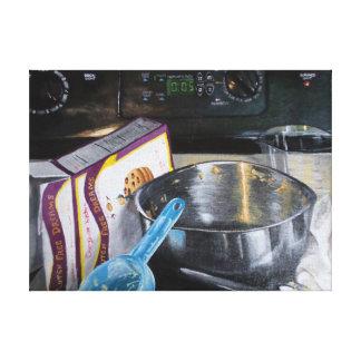 De Koekjes van het baksel in het Acryl Schilderen Canvas Afdruk