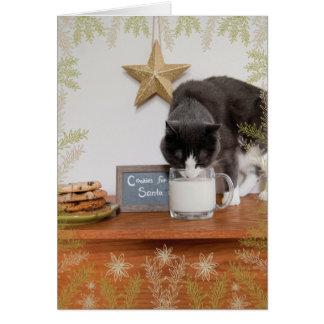 De Koekjes van het kat voor Kerstman Briefkaarten 0