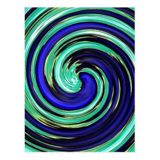 De koele Blauwe Draai van de Draaikolk van de Briefkaart