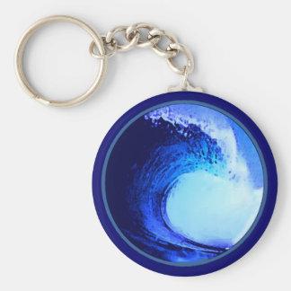 de koele blauwe golf van de brandingsstijl sleutelhanger
