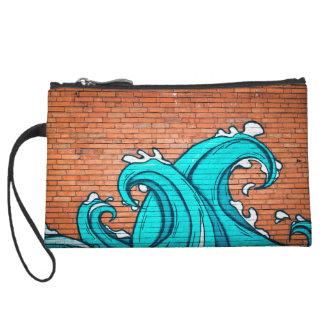 De koele Blauwe Muur Graffiti van de