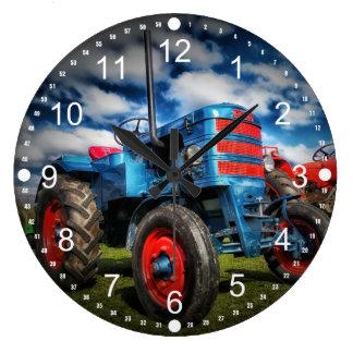 De koele Blauwe Rode Antiek Giften van de Tractor  Grote Klok