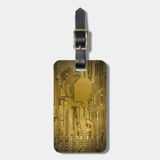 De koele Elegante Gouden Zwarte van de Raad van de Kofferlabels