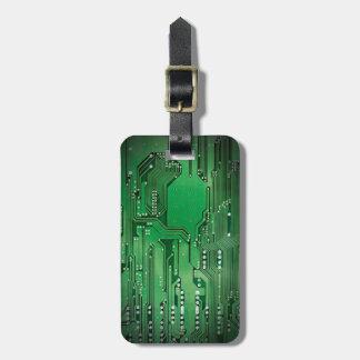 De koele Elegante Groene Zwarte van de Raad van de Kofferlabel