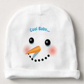 De koele het Glimlachen Cartoon van de Sneeuwman Baby Mutsje