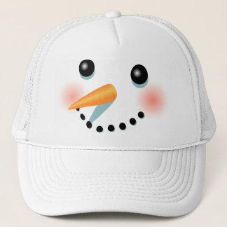 De koele Ijzige Cartoon van de Sneeuwman Trucker Pet