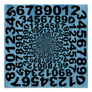 De koele Illusie van het Aantal Poster