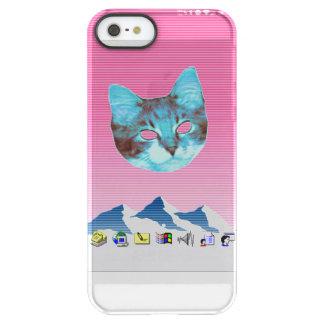 De koele Kat van Vensters Vaporwave Permafrost iPhone SE/5/5s Hoesje