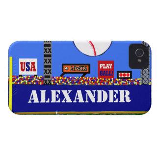 De koele Kinder Honkbal Gepersonaliseerde Gift van iPhone 4 Hoesje